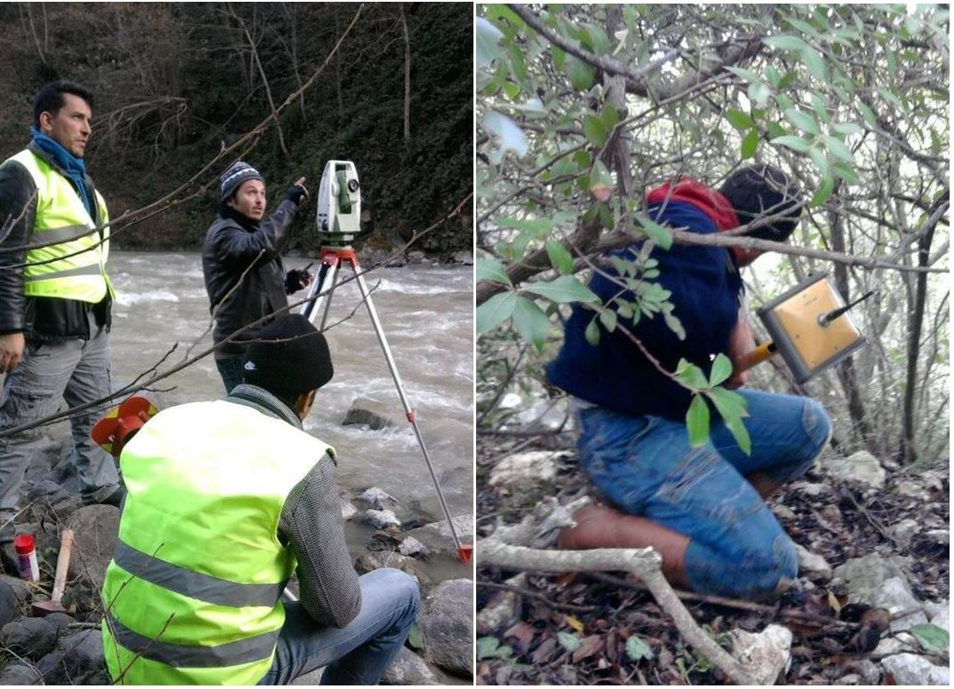 Topographical Land Survey Along Riverbeds In Various Porject Locations In Denizli